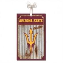 Arizona State Sundevils Corrugated Metal Ornament