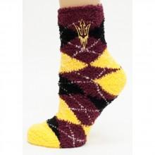 Arizona State Sundevils Argyle Fuzzy Lounge Socks