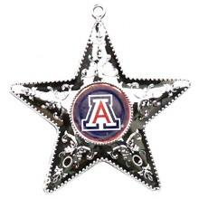 "Arizona Wildcats 4"" Silver Star Ornament"