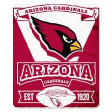 "Arizona Cardinals 50"" x 60"" Marque Fleece Throw Blanket"