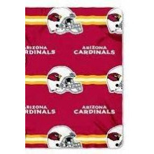 "Arizona Cardinals 50"" x 60"" 3 Bar Repeating Pattern Fleece Throw Blanket"