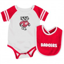 Wisconsin Badgers Colosseum Infant  Bib and Bodysuit Set (0-3 Months)