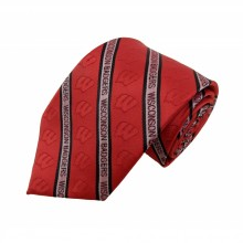 NCAA Officially Licensed Wisconsin Badgers Prep Silk Necktie
