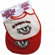 Wisconsin Badgers 2 Pack Game Day Bib Set