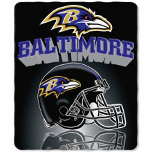 "Baltimore Ravens 50"" x 60"" Gridiron Fleece Throw Blanket"