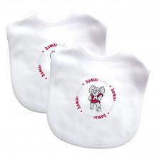 Alabama Crimson Tide 2 Pack Embroidered Team Baby Bibs