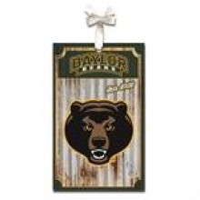 Baylor Bears Corrugated Metal Ornament