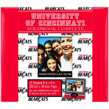 "Cincinnati Bearcats 8"" X 8"" Complete Scrapbook Kit"