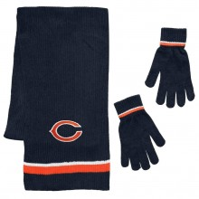 Chicago Bears Chenille Scarf & Glove Set