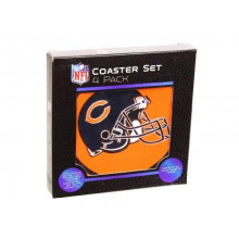 Chicago Bears 4 pack Flexible Coaster Set