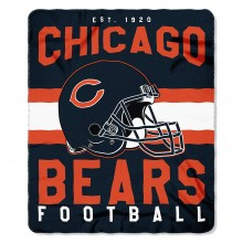 "Chicago Bears 50"" x 60"" Singular Fleece Throw Blanket"