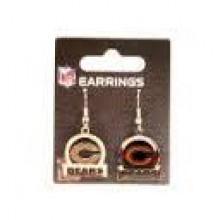 Chicago Bears Bar Style Dangle Earrings