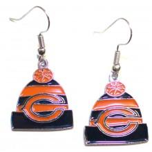 Chicago Bears Beanie Style Dangle Earrings
