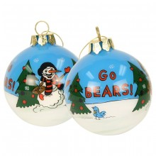 Chicago Bears Hand Painted Ball Ornament