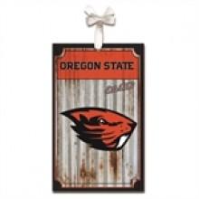 Oregon State Beavers Corrugated Metal Ornament