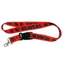 NCAA Oregon State Beavers Double Sided Team Color Breakaway Lanyard Key Chain (Beaver Logo)