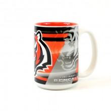Cincinnati Bengals 15oz Shadow Ceramic Mug