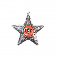 "Cincinnati Bengals 4"" Silver Star Ornament"