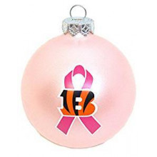 Cincinnati Bengals Breast Cancer Awareness Ornament