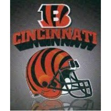 "Cincinnati Bengals 50"" x 60"" Gridiron Fleece Throw Blanket"