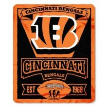 "Cincinnati Bengals 50"" x 60"" Marque Fleece Throw Blanket"