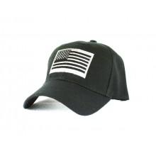 American Flag Tactical Black Hat Cap