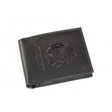 Chicago Blackhawks  Black Leather Bi-Fold Wallet