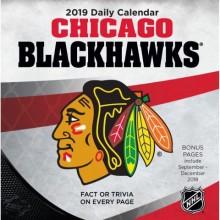 Chicago Blackhawks 2019 Boxed Desk Calendar