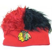 Chicago Blackhawks Faux Fur Hair Flair Beanie