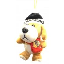 Chicago Blackhawks 4 inch Plush Dog Ornament