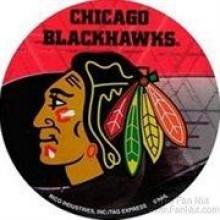 "Chicago Blackhawks 4.5"" X 4.5"" Round Decal"