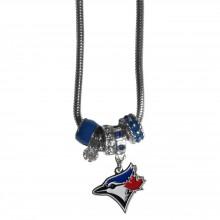 Toronto Blue Jays Euro Bead Charm Necklace