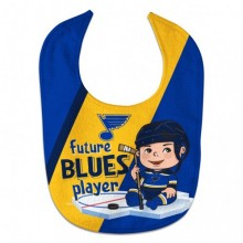 """NHL Officially Licensed St. Louis Blues """"Future Blues Player"""" Baby Bib"""