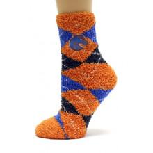 Boise State Broncos Argyle Fuzzy Lounge Socks
