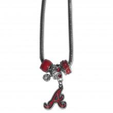 Atlanta Braves Euro Bead Charm Necklace
