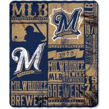 """Milwaukee Brewers 50"""" x 60"""" Established Fleece Throw Blanket"""