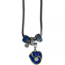 Milwaukee Brewers Euro Bead Charm Necklace
