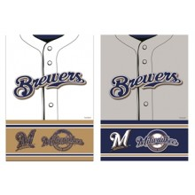 Milwaukee Brewers 2 Sided Suede Foil Garden Flag