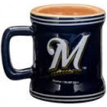 Milwaukee Brewers Mini Mug 2 oz Shot Glass