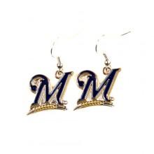 Milwaukee Brewers Logo Dangle Earrings