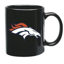 Denver Broncos 15 oz Black Ceramic Coffee Cup