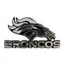 "Denver Broncos 3"" Chrome Emblem"