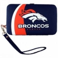 "Denver Broncos Distressed Wallet Wristlet Case (3.5"" X .5"" X 6"")"