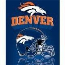 "Denver Broncos 50"" x 60"" Gridiron Fleece Throw Blanket"