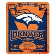 "Denver Broncos 50"" x 60"" Marque Fleece Throw Blanket"