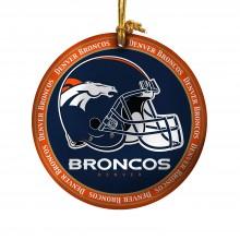 Denver Broncos Ceramic Mini Plate Ornament