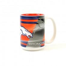 Denver Broncos 15oz Shadow Ceramic Mug