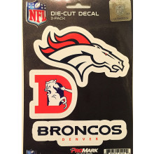 Denver Broncos 3 Pack Die Cut Decals