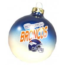 Denver Broncos Glass Ball Ornament