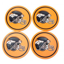 Denver Broncos 4 pack Flexible Coaster Set
